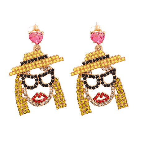 Geometrische Ohrringe mit Diamantnieten aus Modelegierung NHJJ338189's discount tags