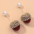 NHNJ1565331-Silver-Post-Red-Cherry-Stud-Earrings