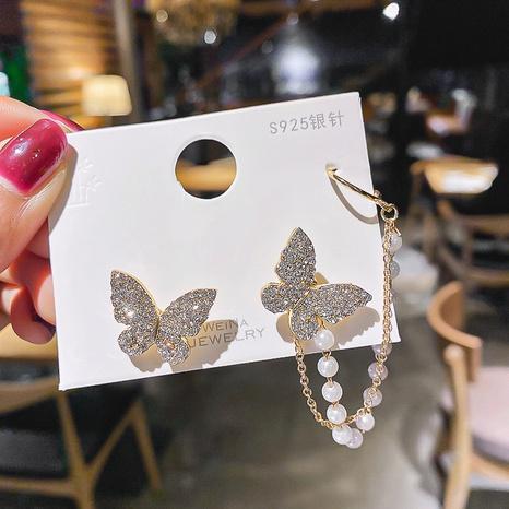 Mode Diamant Schmetterling Perle Quaste Ohrringe NHOT338404's discount tags