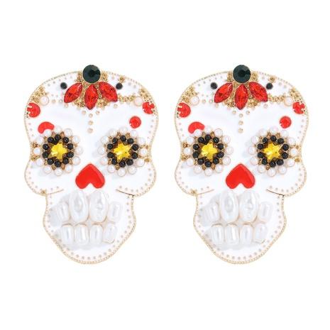 Eingelegte Perlen-Halloween-Ohrringe der Mode-Legierung NHJQ338203's discount tags