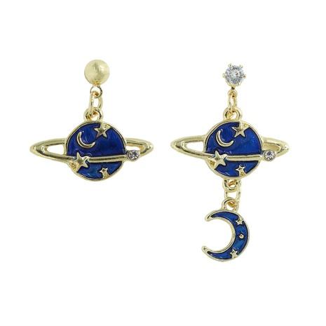 Koreanische Golden Star Moon Ohrringe NHJQ338204's discount tags