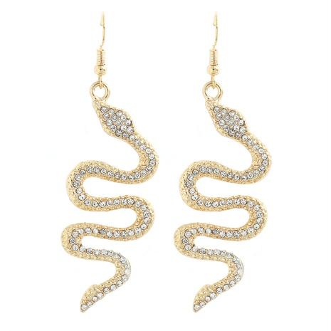 modische schlangenförmige Ohrringe mit Mikrodiamanten NHJQ338206's discount tags