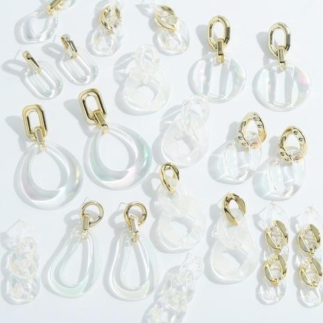 Mode geometrische transparente Farbe Ohrringe NHJQ338210's discount tags