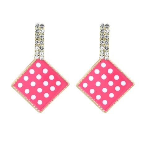 Mode geometrische diamantbesetzte Tropfenölohrringe NHJQ338213's discount tags