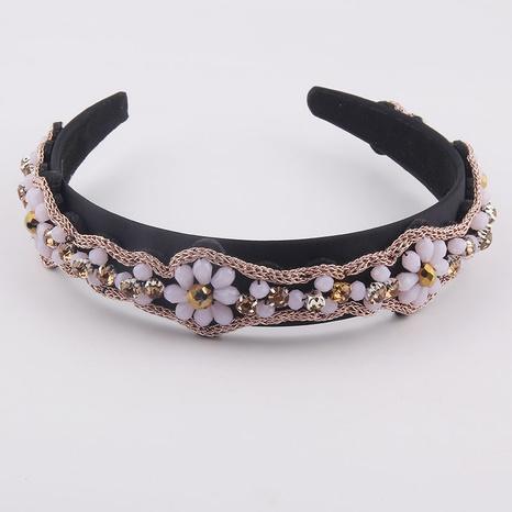 Mode Kristall geflochtene Diamantblume Stirnband NHWJ338256's discount tags