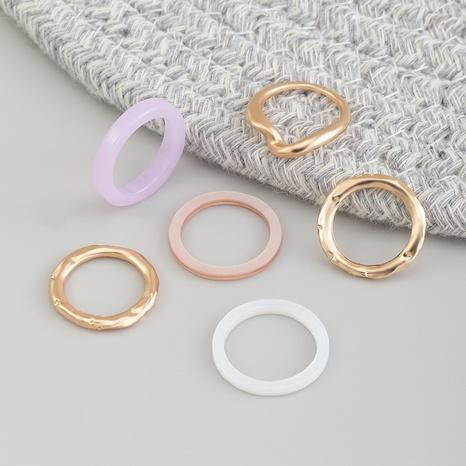 anillo de resina de metal irregular de moda NHNZ338313's discount tags