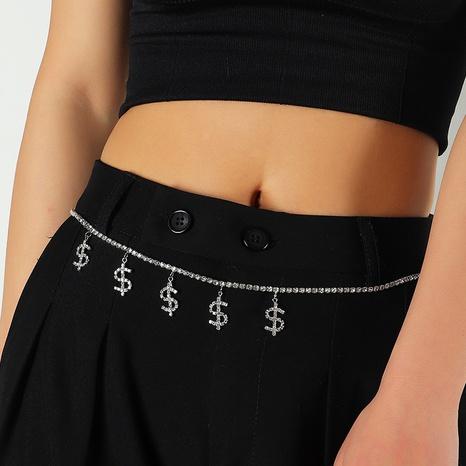 Mode Dollar Strass Taillenkette NHNZ338317's discount tags