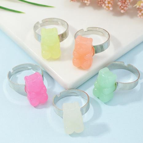 anillo abierto de oso de resina simple NHNZ338319's discount tags