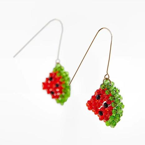 Mode handgewebte Kristall Wassermelone Ohrringe Großhandel NHLA338326's discount tags