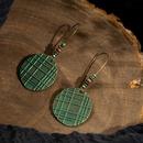 retro round striped alloy pendant earring wholesale NHAKJ338352