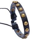 Simple single row rivet leather bracelet wholesale NHPK338395