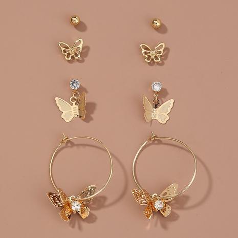 einfache Schmetterlingsohrringe gesetzt NHAN338437's discount tags