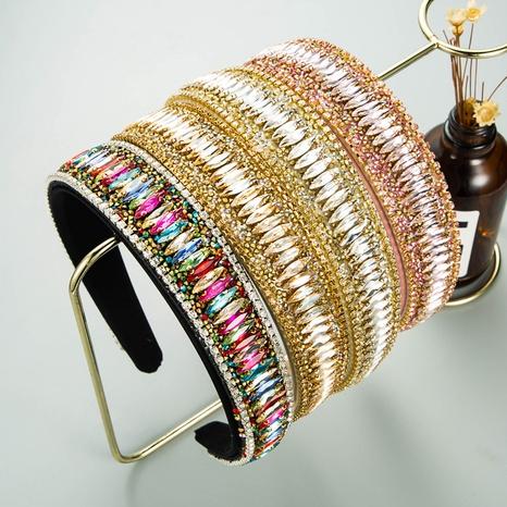 Korean starry rhinestone chain headband  NHLN338452's discount tags