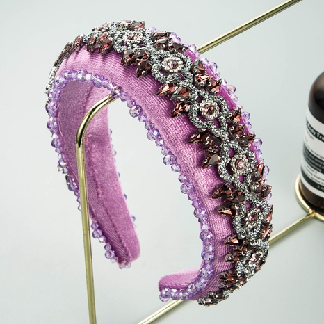 fashion amethyst sponge flannel headband  NHLN338449's discount tags
