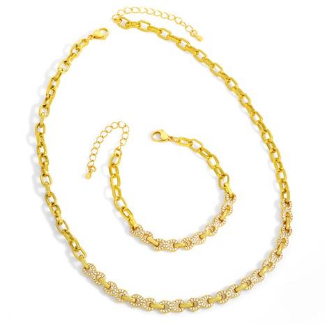 Collar de circonitas de cobre geométricas de moda NHAS338499's discount tags