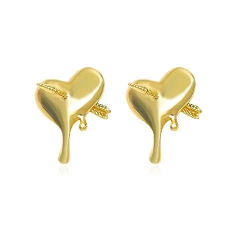 Fashion heart-shape alloy earrings wholesale NHDP338506's discount tags