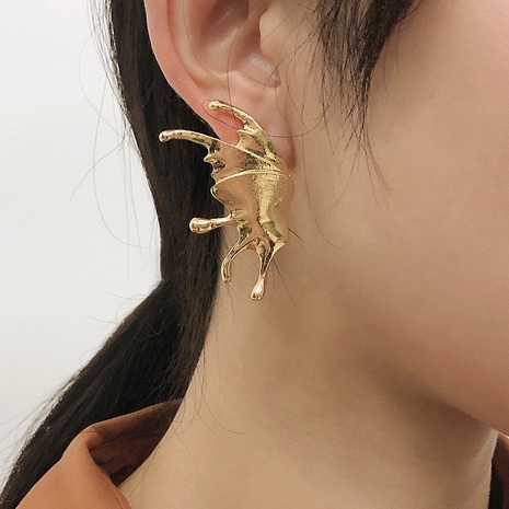 new fashion geometric butterfly wings earrings NHMD338615's discount tags
