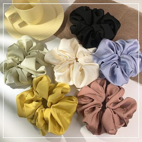 French simple satin cloth hair scrunchies  NHOF338640's discount tags