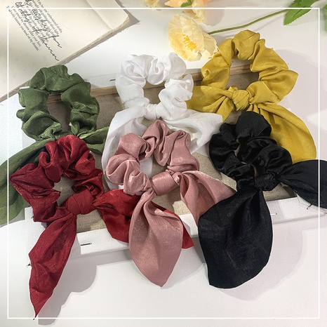 new fashion solid color forged flowers hair scrunchies  NHOF338641's discount tags