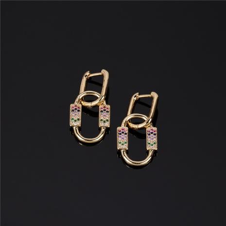 new geometric diamond oval pendant earrings NHPY338646's discount tags