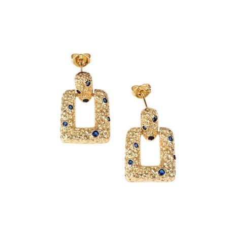 retro copper diamond bump geometric earrings NHPY338647's discount tags