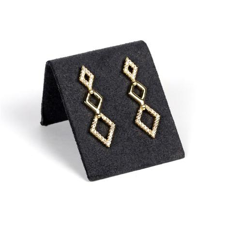 fashion diamond-shaped tassels new earrings NHPY338652's discount tags
