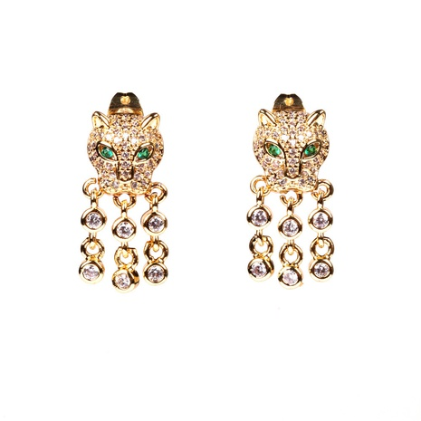 New fashion leopard earrings NHPY338653's discount tags