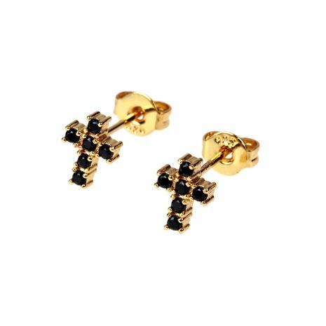 new fashion zircon cross earrings NHPY338654's discount tags
