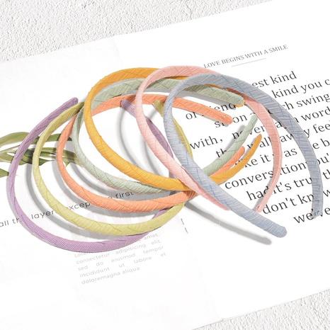 Koreanische Bonbonfarbe dünne Seite wildes Haarband NHAQ338689's discount tags
