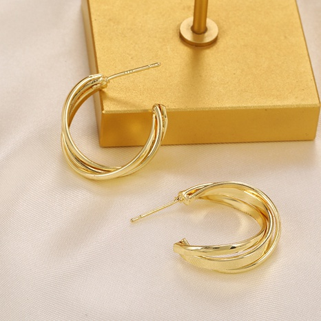 simple geometric twist earrings NHPF338694's discount tags
