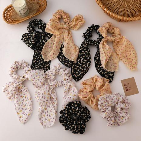 retro fashion floral chiffon hair scrunchies  NHMS338714's discount tags