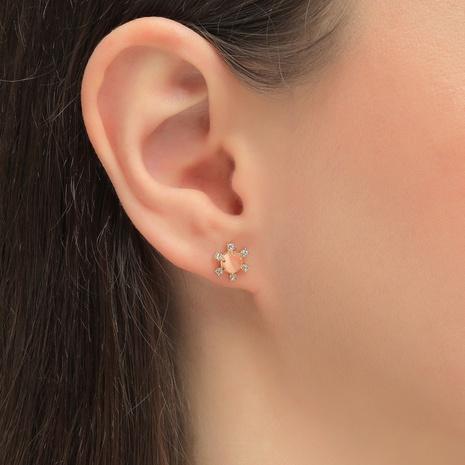 mini boucles d'oreilles à la mode en zircon incrusté NHLU338719's discount tags