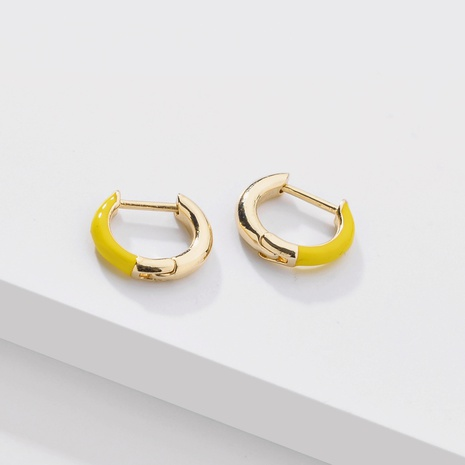 fashion color dripping oil ear clip NHLU338729's discount tags
