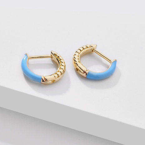 fashion color dripping oil ear clip NHLU338730's discount tags