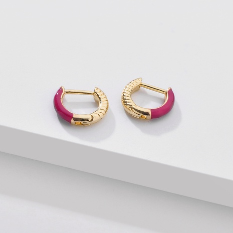 fashion color dripping oil ear clip NHLU338734's discount tags