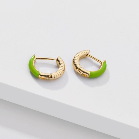 fashion color dripping oil ear clip NHLU338733's discount tags