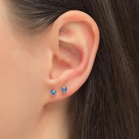 boucles d'oreilles rondes en zircon incrustées simples NHLU338738's discount tags