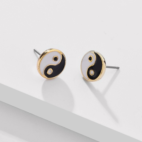 fashion simple Tai Chi gossip earrings NHLU338739's discount tags