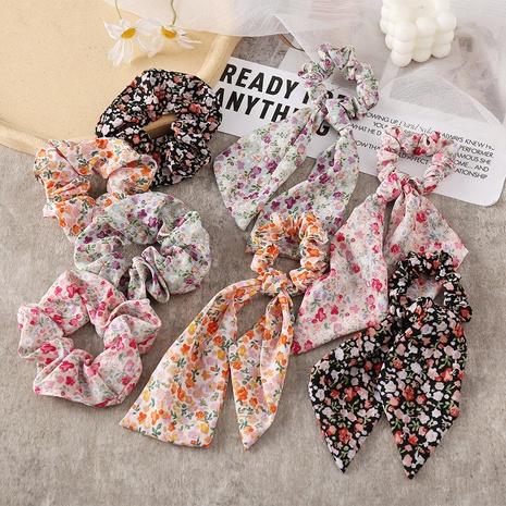 new fashion floral diamond ponytail hair scrunchies  NHPJ338789's discount tags