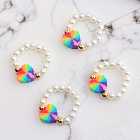 fashion colorful bead elastic ring  NHNZ338798's discount tags
