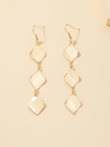 Fashion long geometric tassel alloy earrings NHQJ338805's discount tags