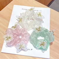 fashion simple butterfly hair scrunchies  NHNA338828