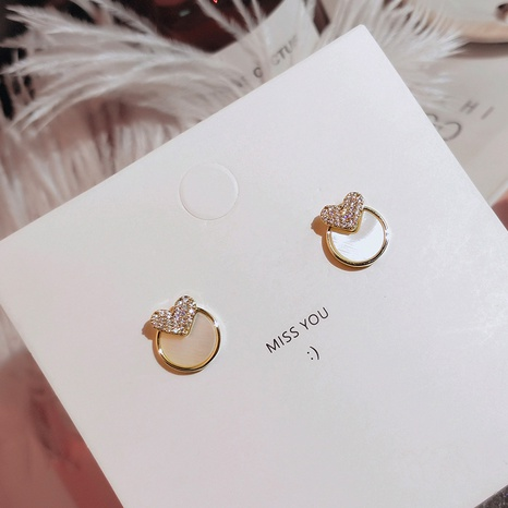 Fashion heart-shape rhinestone circle earrings NHXI338846's discount tags