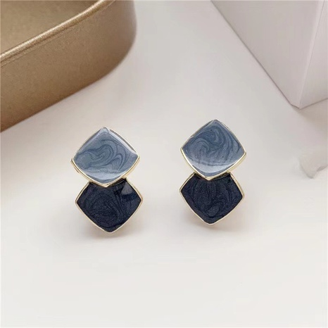 Korean Stitching Contrasting Color Earrings NHXI338866's discount tags