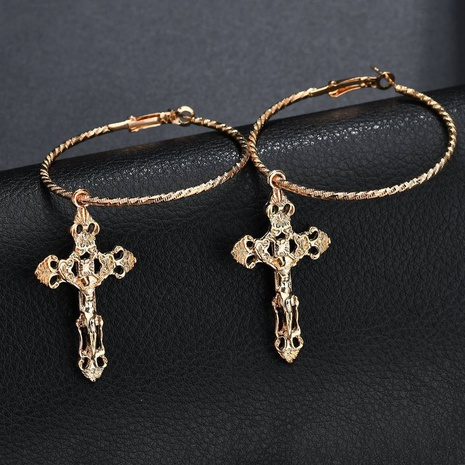 Fashion cross alloy earrings NHDM338882's discount tags