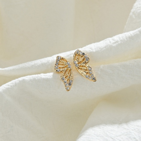 Bohemian rhinestone butterfly alloy earrings NHDM338900's discount tags