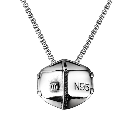 neue Titan Stahlmaske Anhänger Halskette NHOP338922's discount tags