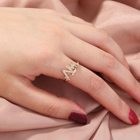 fashion copper inlaid zircon lightning ECG ring  NHAN338999's discount tags