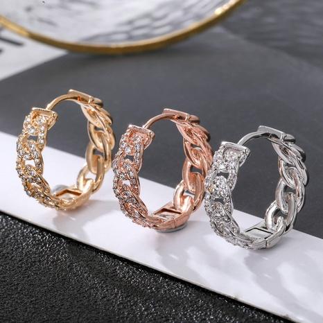 nuevo pendiente de cobre trenzado chapado en oro NHLJ339003's discount tags