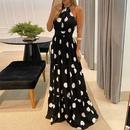 summer polka dot print sexy long dress NHKO339096